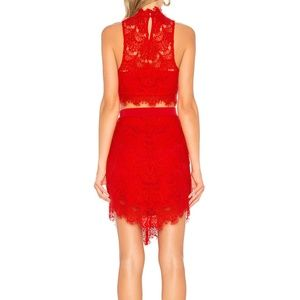 New Free People red lace dress set